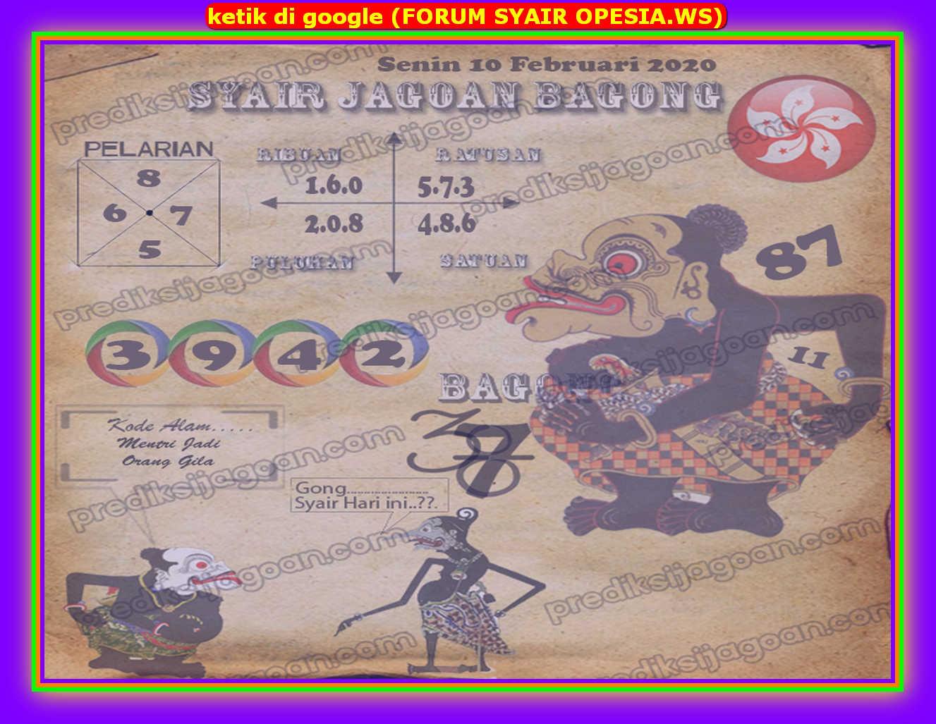 Kode syair Hongkong Senin 10 Februari 2020 89