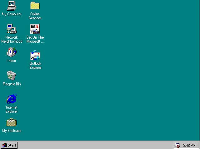 Windows 98 (Memang ringan, namun terlalu jadul!)