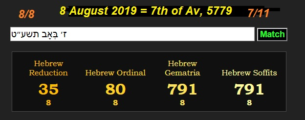 February 21 2019 Jewish Calendar Decoding Satan: August 8th 2019 is 711 on the Jewish calendar.