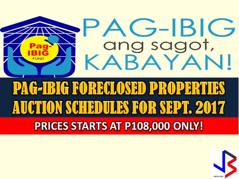 Hundreds of acquired assets of properties of Pag-IBIG Fund will be auctioned this September 2017. Five Pag-IBIG branches nationwide will be participating in the public auctions. These includes National Capital Region, Davao City and Tagum.   If you are looking for properties to buy such as lot townhouse, duplex, Quadro-duplex, row houses, and many others, this is your opportunity to own.  Disclaimer: Thoughtskoto is not affiliated nor is we selling any property. All the information had been verified through Pag-Ibig website. We encourage you to transact only with Pag-Ibig authorized agent in their office when participating in an auction.