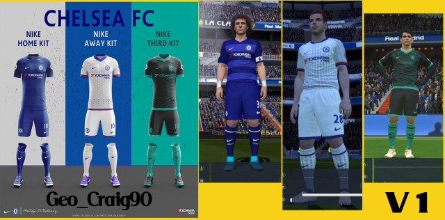 Including GK Kits for each others Version and UCL Font number Chelsea  season 2016 17. ENJOY! 93f8ee48f