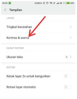 Cara Mengatur Layar Ponsel Kontras Dan Warna Ponsel Xiaomi