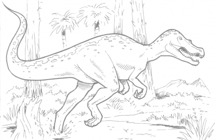 Dinosaur Color Sheets This T Rex Is Ready For Coloring Click The