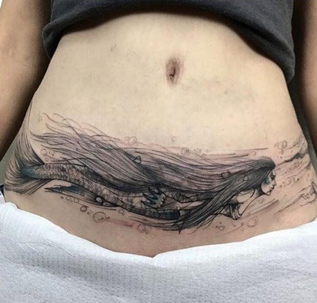 Stomach Tattoo for Women