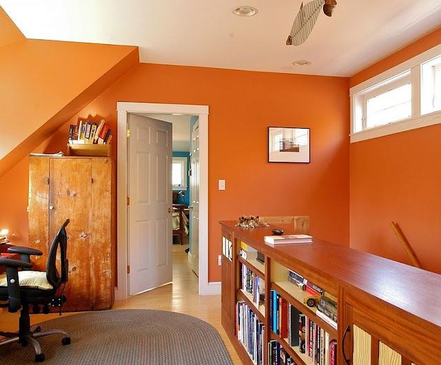 58+ Gambar Rumah Cat Orange Gratis Terbaru
