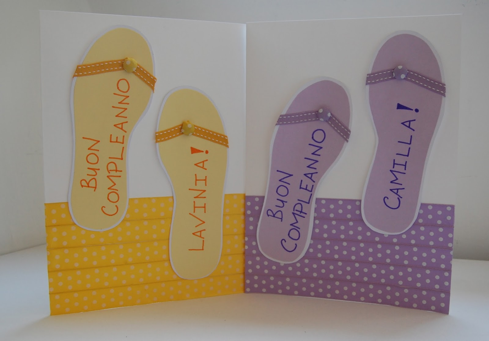 Summer Themed Twin Birthday Cards With DIY Fabric Covered Buttons