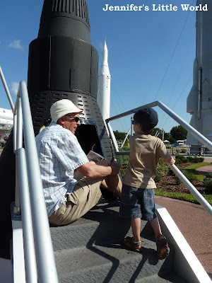 Family visit to the Kennedy Space Center, Florida