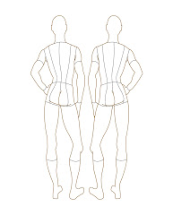 croquis male templates figure template front sketch drawings croqui child costumes illustrations