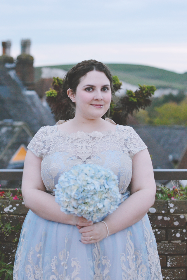 Maid of honour wedding photo