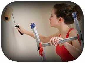 Cara mengecat dinding rumah memakai cat murah tapi berkualitas dan tahan lama.
