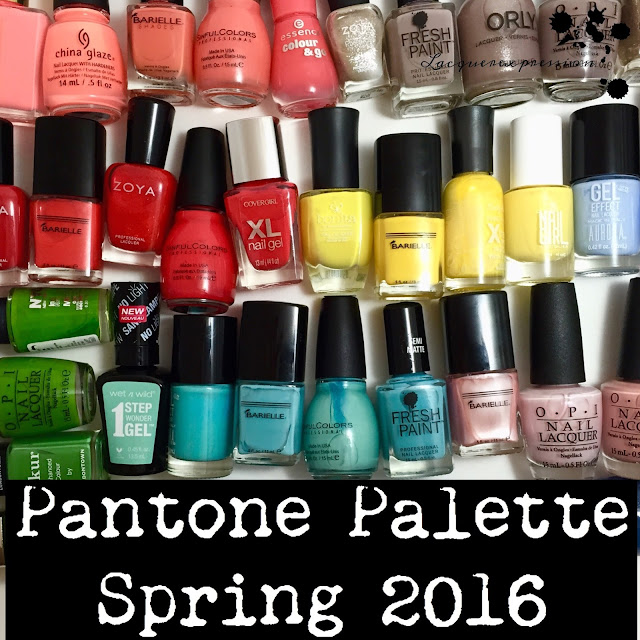 Nail Polish recommendations based on the Pantone Spring 2016 color palette