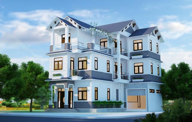 gach bong-BT910715 Thiết kế biệt thự cổ điển - Phong cách và xu hướng hiện nay