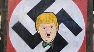 poster Trump digambarkan nazi
