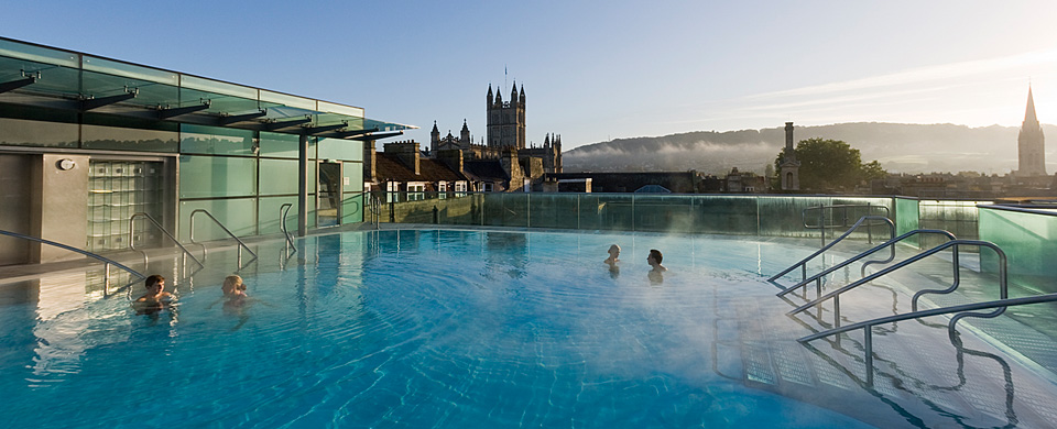 thermae bath spa open air rooftop pool