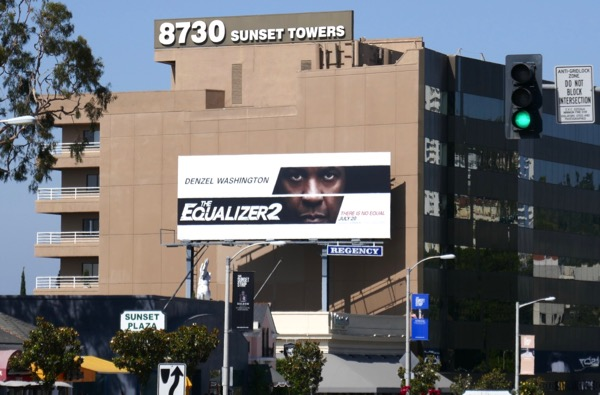 The Equalizer 2 movie billboard