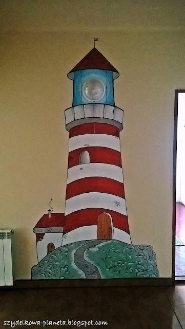 latarnia morska na scianie
