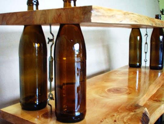 Γυάλινα μπουκάλια ως διακοσμητικά στοιχεία!