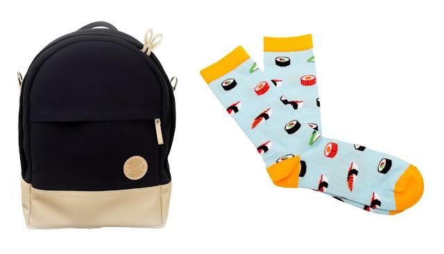 mochila calcetines a la moda