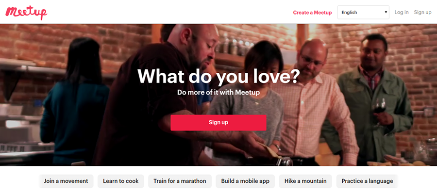Meetup is a platform for entrepreneurs to connect with like-minded people