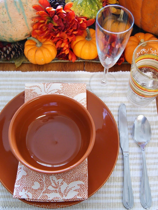 A Pumpkin Harvest Table Setting