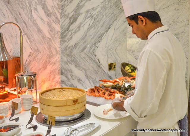dim sum at Al Dawaar Revolving Restaurant