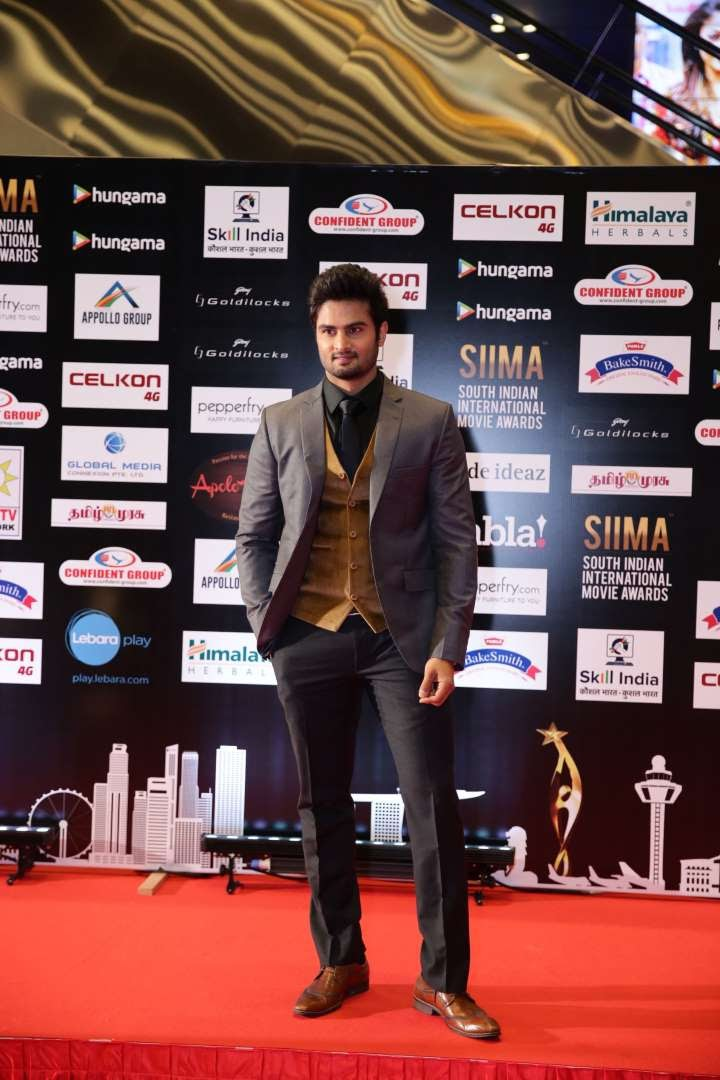 Sudheer Babu who was recently seen in Bollywood film Baaghi posted on Twitter Thanq SIIMA for honoring me as South sensation of the year Thanq all for the wishes