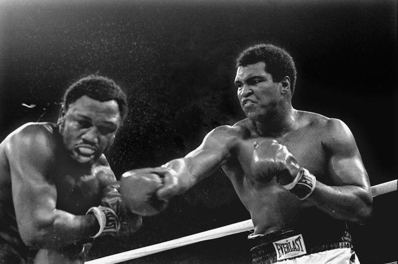 "Muhammad Ali vs. Joe Frazier III ""Thrilla in Manila"", photo by Mitsunori Chigita/Associated Press."