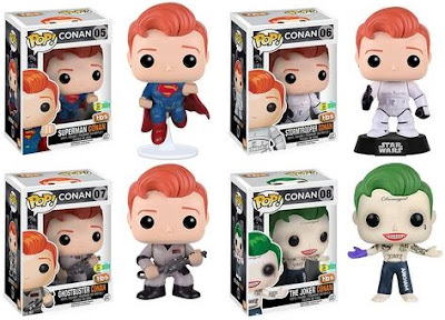 San Diego Comic-Con 2016 Exclusive Conan O'Brien Pop! Vinyl Figure Series 2 by Funko - Superman Conan, Stormtrooper Conan, Ghostbusters Conan & The Joker Conan