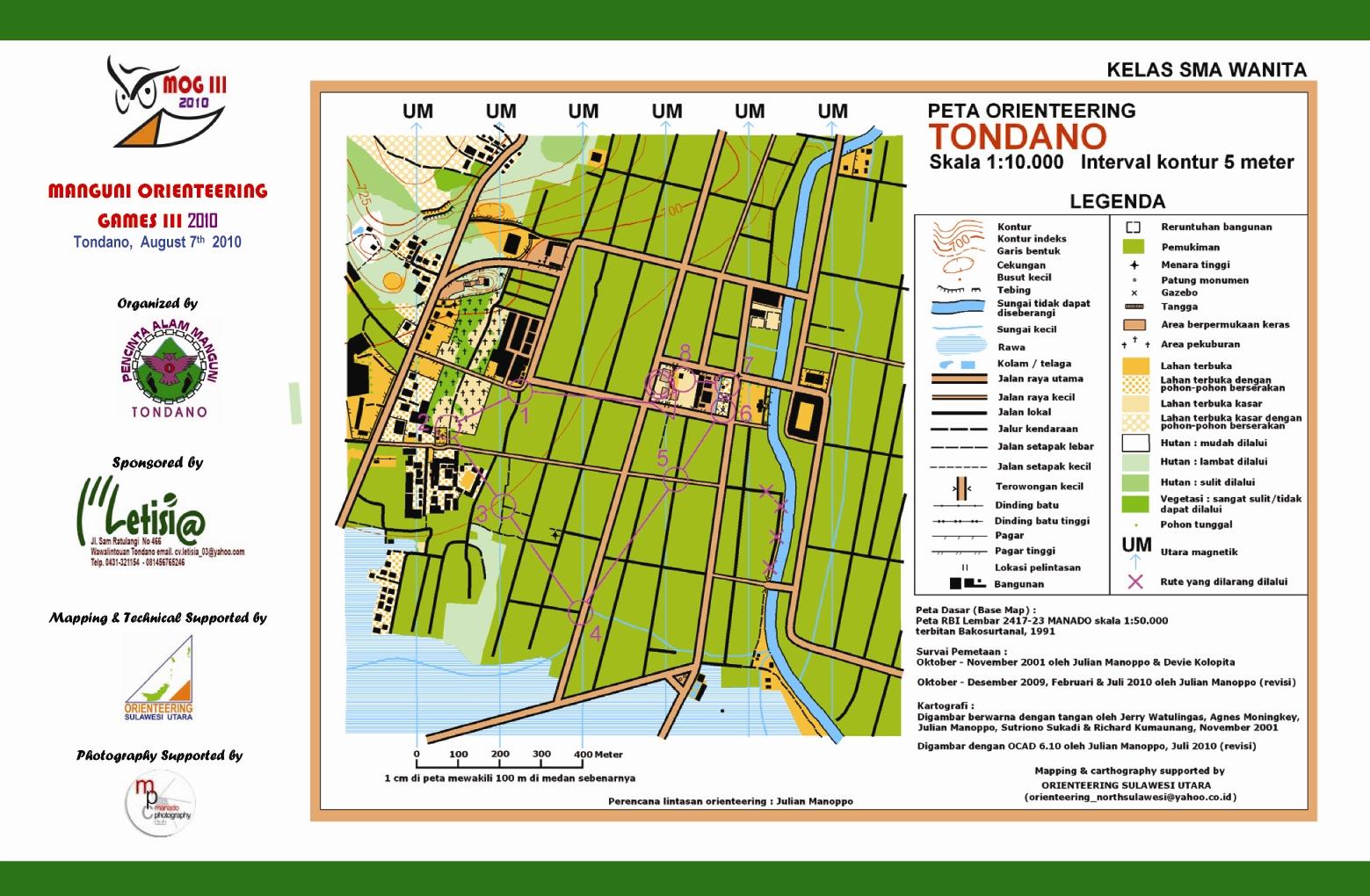 Peta orienteering in Indonesia