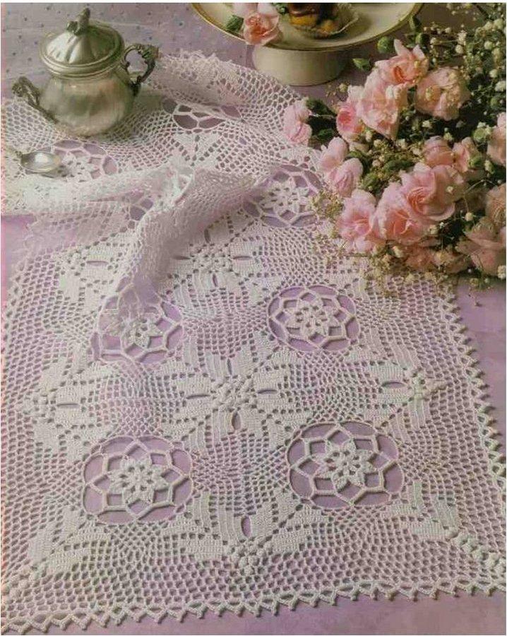 Todo patrones crochet gratis paso a paso esquema y for Como hacer caminos de mesa modernos