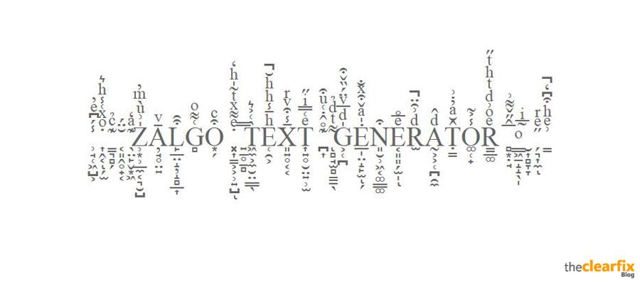 Free Online Zalgo Text Generator