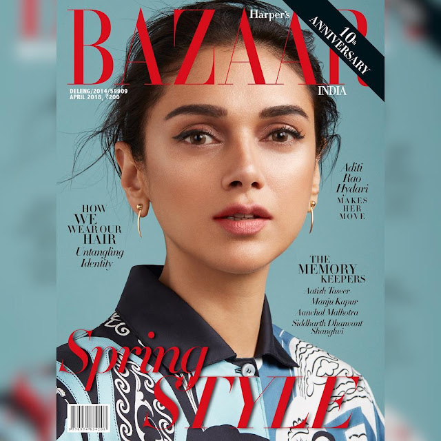 Aditi Rao Hydari on Harper Bazaar Magazine Cover