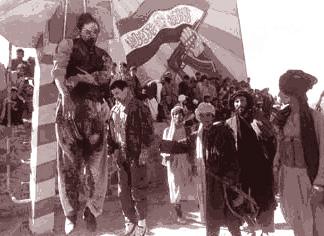 Chagatai Khan: Qaḏḏāfī/Mohammad Najibullah, Desecration of