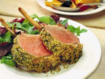 Racks of Lamb with Parsley Mint Crust