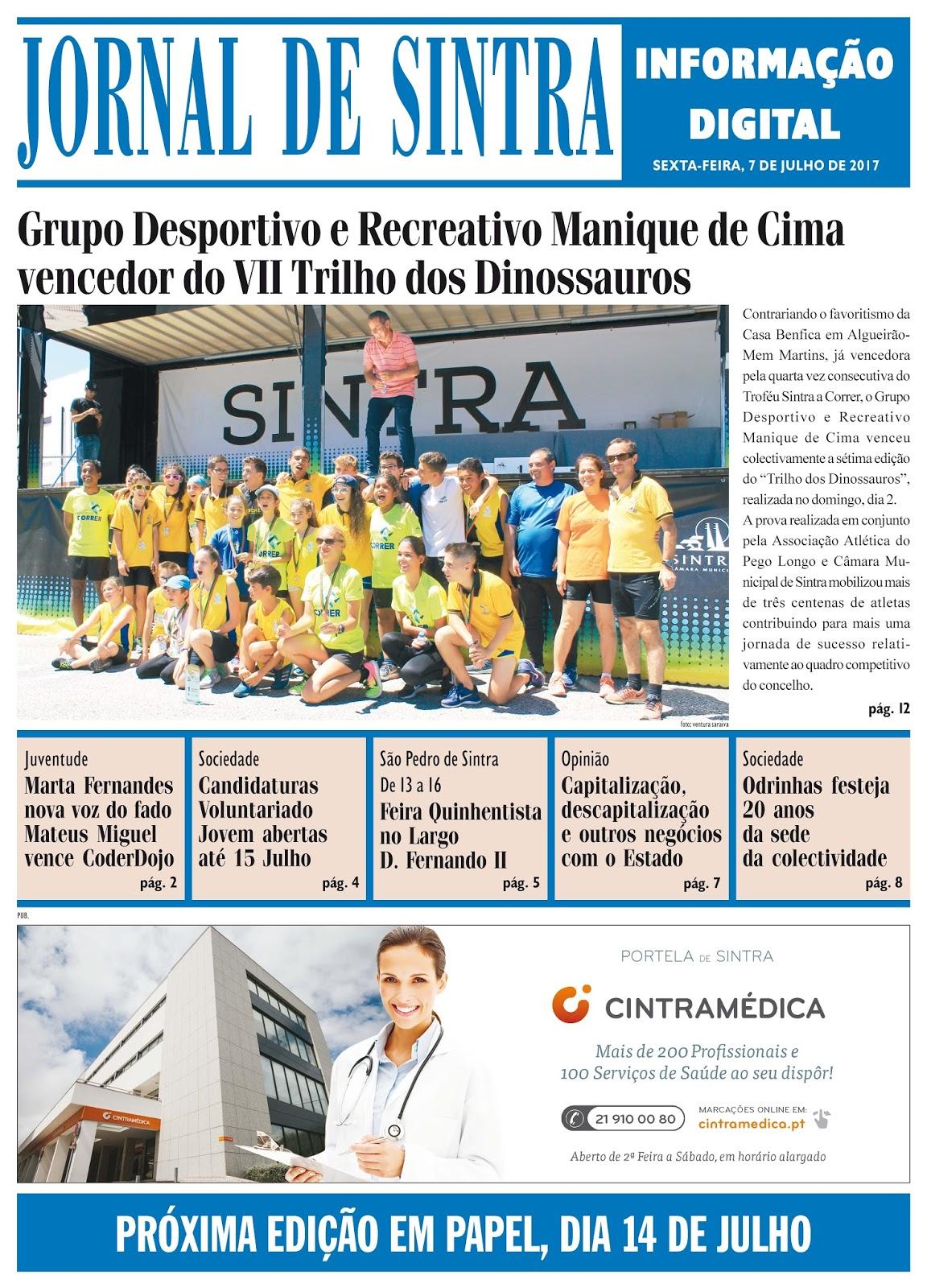 Capa da edição de 07-07-2017