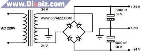 Skema adaptor 24 Volt CT 2 - www.divaiz.com
