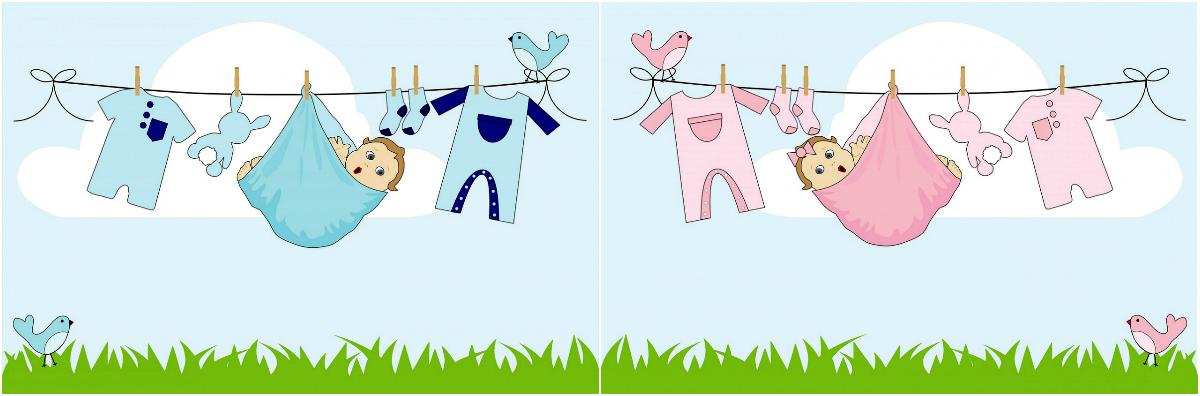 Ubrania - chłopiec i dziewczynka