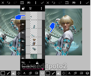 Cara Edit Foto Picsart Sci - Fi Body Effect Character