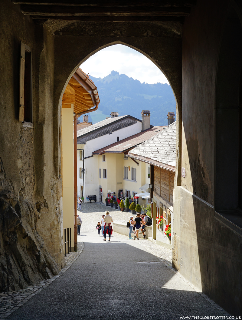 The medieval town of Gruyeres in Switzerland