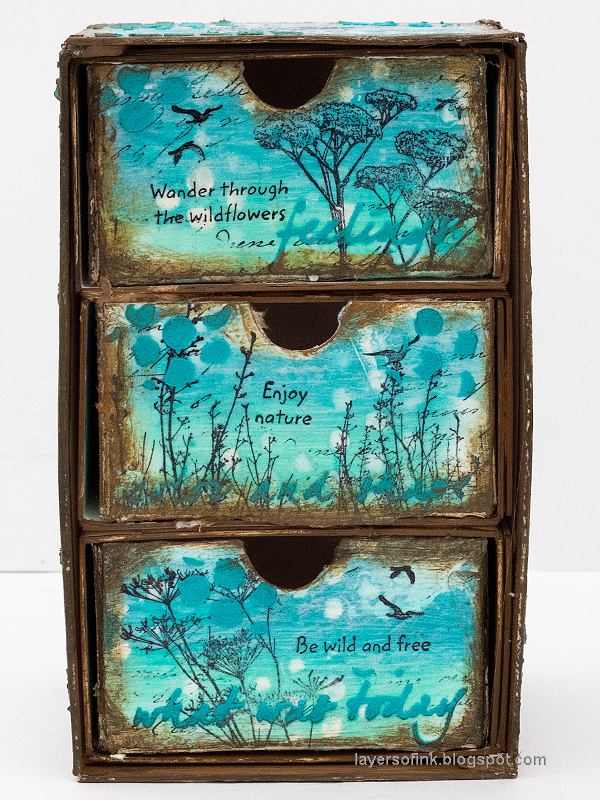 Layers of ink - DIY Chest of Drawers Tutorial by Anna-Karin Evaldsson.