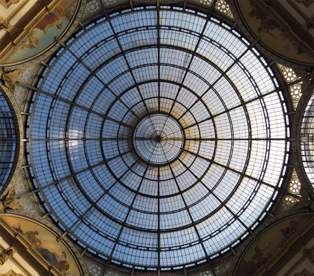 The glass dome of the Galleria Vittorio Emanuele II by Giuseppe Mengoni, Milan