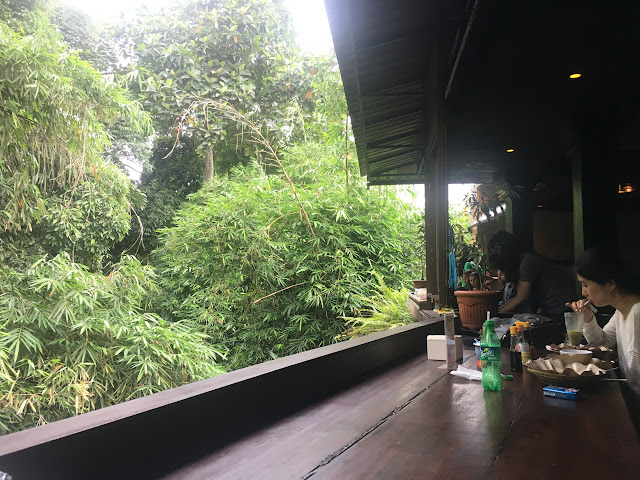 Views at Ibu Oka restaurant, Ubud.