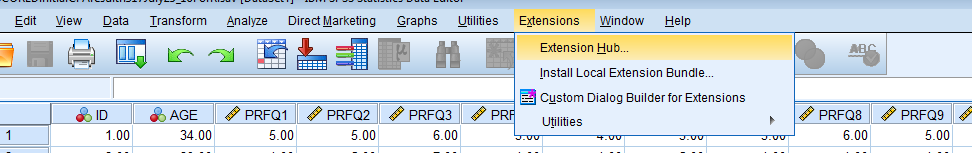 All subsets regression using in SPSS