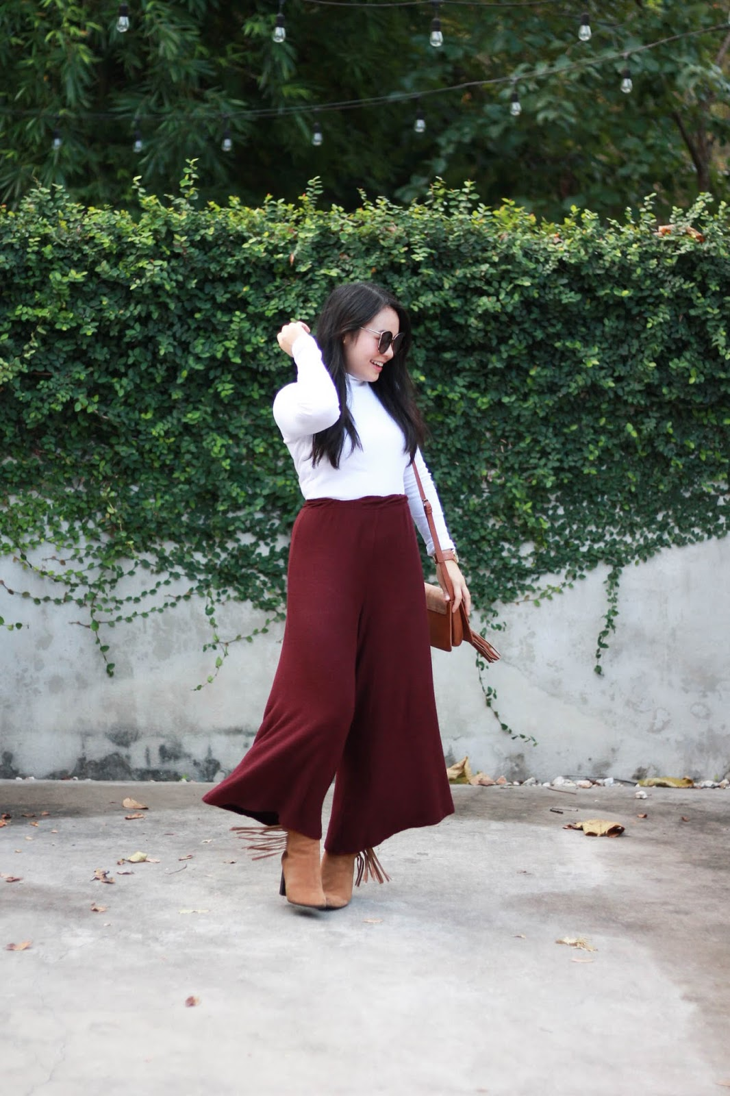 Burgundy Culottes Fall 2016