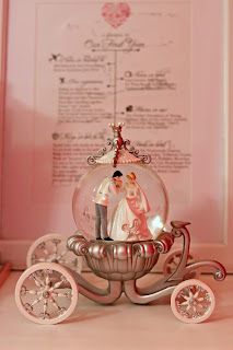 Cinderella Wedding Carriage Snow Globe Collectible