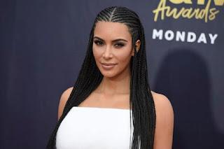 Kim Kardashian Fulani braids hairstyle