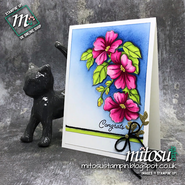 Stampin' Up! Blended Seasons Card Idea order cardmaking products from Mitosu Crafts UK Online Shop