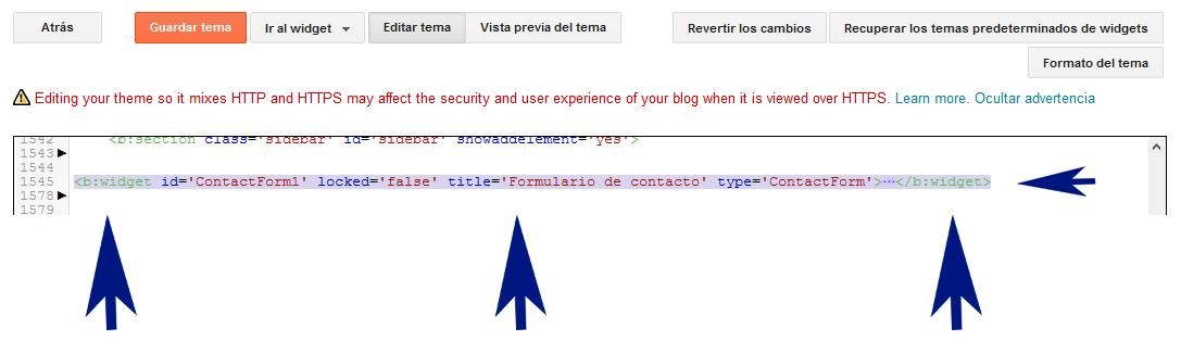 Formulario de contactos para Blogger estilo material design