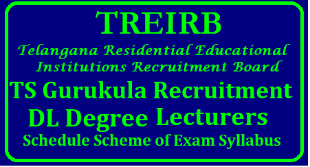 TS Gurukulam Recruitment 2018 – TREIRB 465 Degree College Lecturers Posts | Apply Now | TREIRB TS Gurukulam Recruitment Notification 2018 – Apply Online for 465 Degree College Lecturers Vacancy @ treirb.telangana.gov.in TREIRB TS Gurukulam Degree College Lecturers Recruitment 2018-19 | 465 Jobs @ treirb.telangana.gov.in Telangana Residential Educational Institutions Recruitment Board TREIRB TS Gurukulam released notification for the recruitment of the posts of 465 Degree College Lecturers under TS Gurukulam Recruitment. All Eligible and Interested applicants may apply Online mode before the Last Date i.e., 13-09-2018. other Details Like education qualification, age limit, selection process, application fee & how to apply, important links, syllabus, admit cards, results, previous papers are given Below/2018/08/treirb-ts-gurukulam-recruitment-2018-treirb-465-degree-college-lecturers-posts-apply-online-treirb.telangana.gov.in-download-halltickets-results-meritlist-previous-question-papers.html