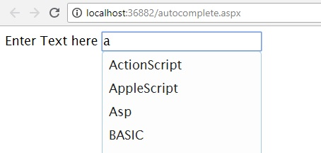 Autocomplete textbox jquery,like google search,asp.net